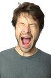 Homem que grita Fotos de Stock