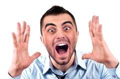 Homem que grita Imagens de Stock Royalty Free