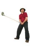 Homem que joga o golfe #1 Foto de Stock Royalty Free