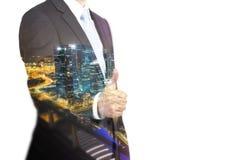 Homem que mostra o polegar acima Imagem de Stock Royalty Free