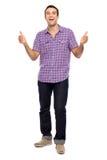 Homem que mostra os polegares acima Fotografia de Stock