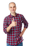 Homem que mostra seu polegar acima Foto de Stock