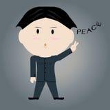 Homem que mostra um sinal da paz Fotos de Stock Royalty Free
