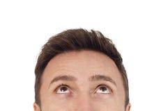 Homem que olha acima Fotografia de Stock