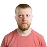 Homem que olha os olhos longe dsi mesmo Imagens de Stock