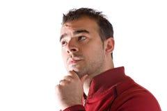 Homem que pensa profundamente Fotografia de Stock