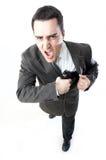 Homem que prende um injetor Foto de Stock Royalty Free