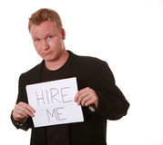 Homem que procura o emprego Foto de Stock Royalty Free