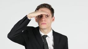 Homem que procura a possibilidade nova Foto de Stock