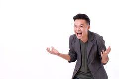 Homem que ri com espaço vazio para o texto fotografia de stock royalty free