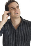 Homem que usa um telemóvel Foto de Stock Royalty Free