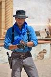 Homem que veste a roupa tradicional do vaqueiro Imagens de Stock
