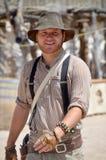 Homem que veste a roupa tradicional do vaqueiro Imagens de Stock Royalty Free