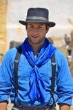 Homem que veste a roupa tradicional do vaqueiro Fotos de Stock Royalty Free