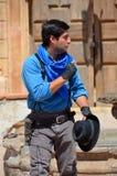 Homem que veste a roupa tradicional do vaqueiro Foto de Stock Royalty Free