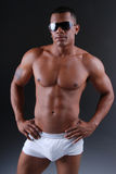 Homem quente do americano africano. Imagens de Stock Royalty Free