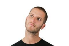 Homem querendo saber Foto de Stock Royalty Free