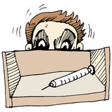 Homem receoso da agulha ilustração stock