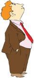 Homem red-haired Curly ilustração royalty free