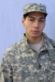 Homem resistente sério do exército étnico militar Imagens de Stock Royalty Free