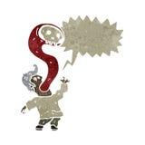 homem retro dos desenhos animados possuído pelo fantasma Fotografia de Stock Royalty Free