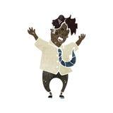 homem retro dos desenhos animados que balança para fora Foto de Stock Royalty Free