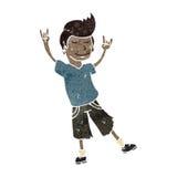 homem retro dos desenhos animados que balança para fora Fotografia de Stock Royalty Free