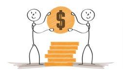 Homem rico com moeda Imagem de Stock