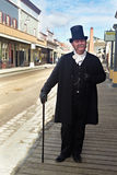 Homem rico idoso no terno antiquado Fotografia de Stock