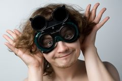 Homem ridículo Fotos de Stock Royalty Free