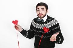 Homem romântico do Valentim Foto de Stock