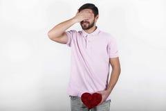Homem romântico do Valentim Fotografia de Stock Royalty Free
