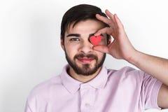 Homem romântico do Valentim Imagem de Stock Royalty Free