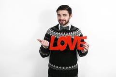 Homem romântico do Valentim Fotos de Stock Royalty Free