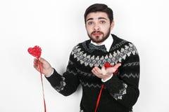 Homem romântico do Valentim Imagens de Stock