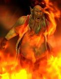 Homem ruim no incêndio Imagem de Stock