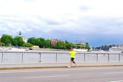Homem Running. imagem de stock royalty free