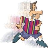 Homem Running ilustração stock