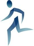 Homem Running ilustração royalty free
