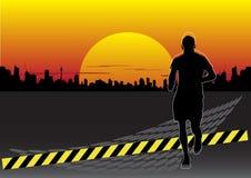 Homem running abstrato Fotos de Stock