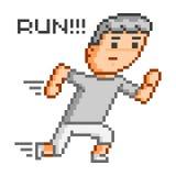 Homem running da arte do pixel para o projeto Imagens de Stock