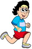 Homem running dos desenhos animados Foto de Stock Royalty Free