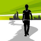 Homem Running na cidade Imagens de Stock