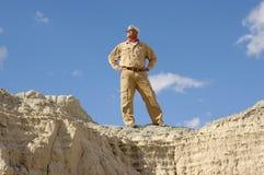 Homem sênior ativo confiável Foto de Stock Royalty Free
