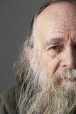 Homem sênior com barba longa Fotografia de Stock Royalty Free