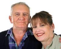 Homem sênior com filha foto de stock royalty free