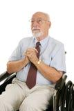 Homem sênior da fé Imagens de Stock Royalty Free