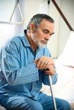 Homem sênior no hospital Imagem de Stock Royalty Free