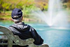 Homem sênior no parque Fotos de Stock
