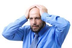 Homem sênior que tem problemas Fotografia de Stock Royalty Free